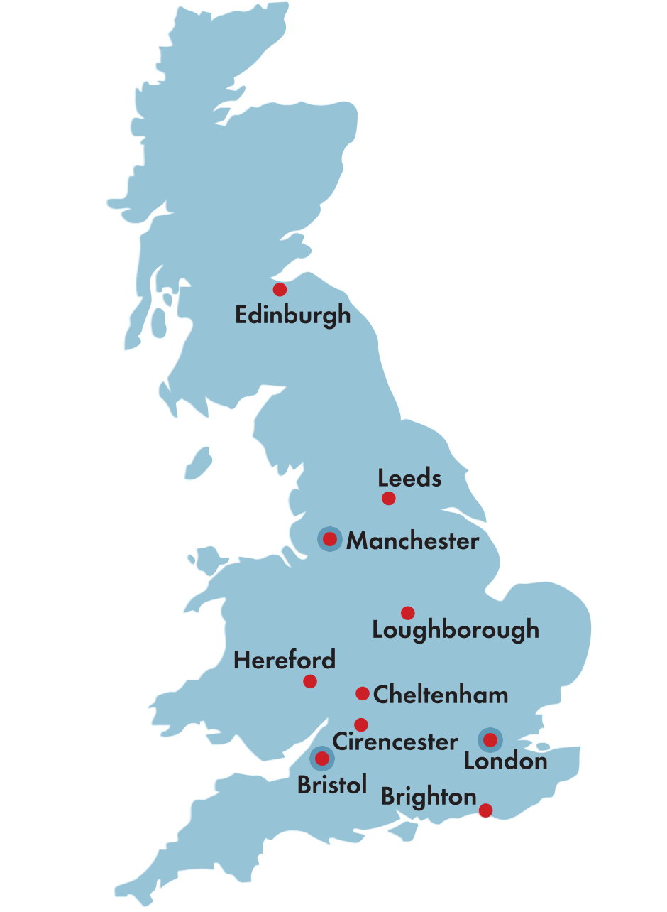 GB Liners Corporate Locations - Manchester and London